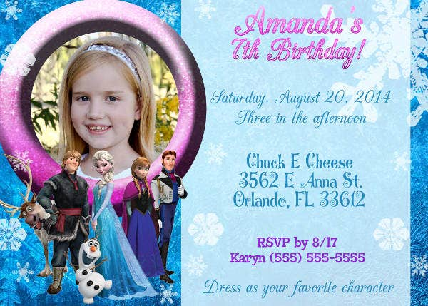 11 frozen invitation template free sample example format frozen party invitation template maxwellsz