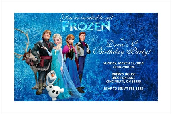 Frozen Invitation Card Template