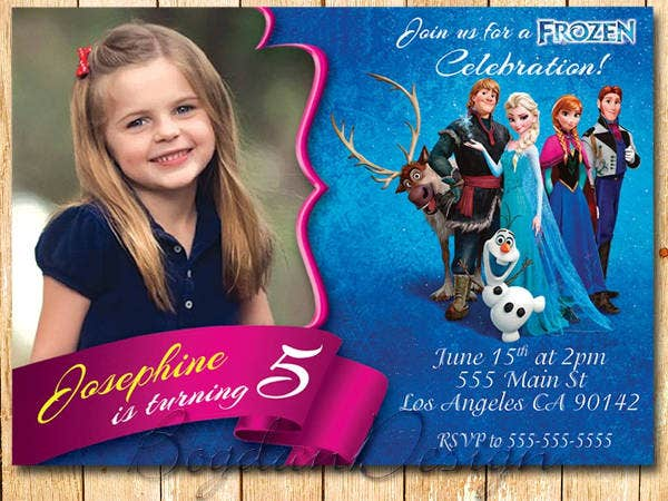 frozen themed invitations