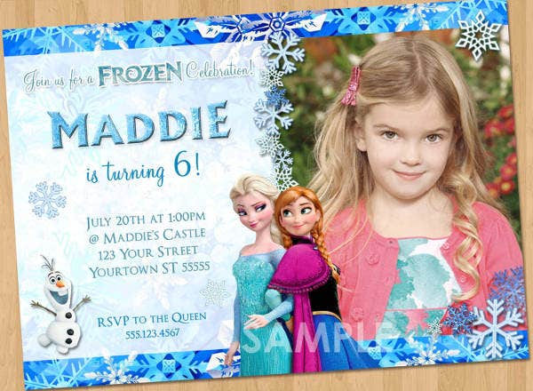 Disney Frozen Party Invite Template
