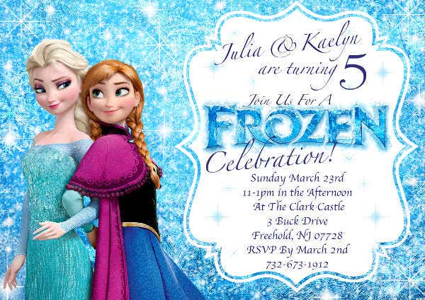 Disney Frozen Invitation Template