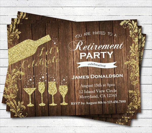 Retirement Cocktail Party Invitation