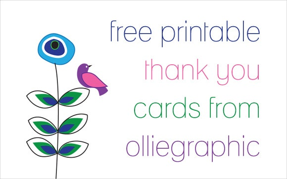 9 Printable Thank You Card Templates Free Sample Example – Printable Thank You Note