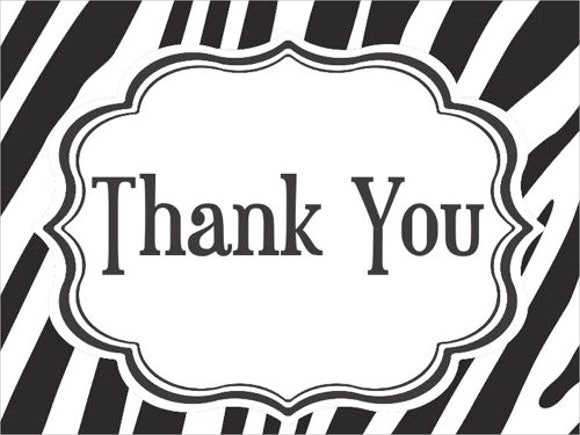 Smart image in free printable thank you cards black and white