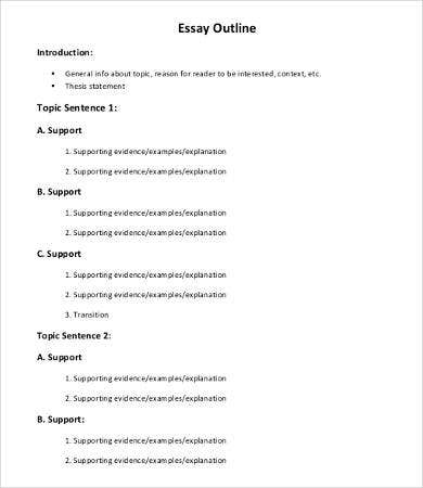 Sample informative essay examples