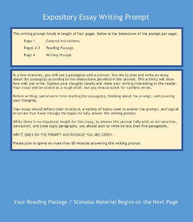 expository writing template
