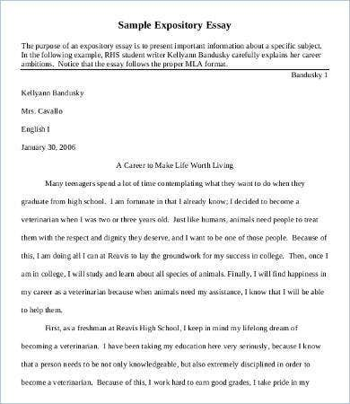 descriptive expository essay