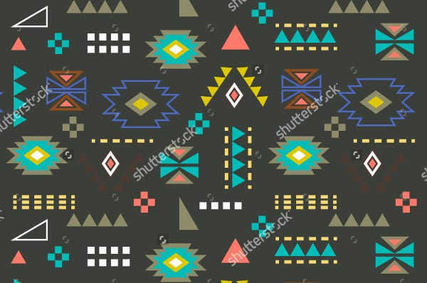 seamless set of geometric icons