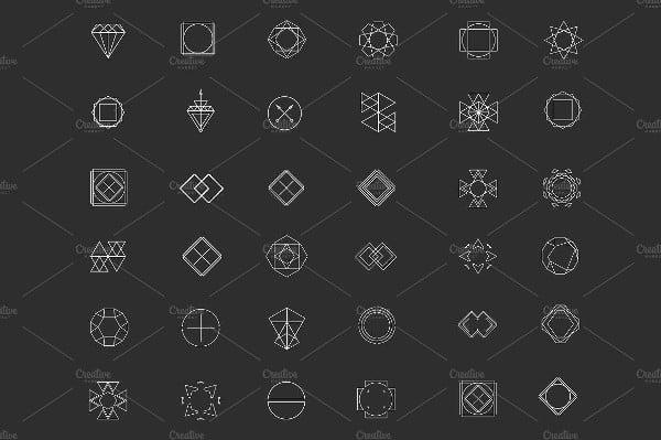 Flat Geometric Icons