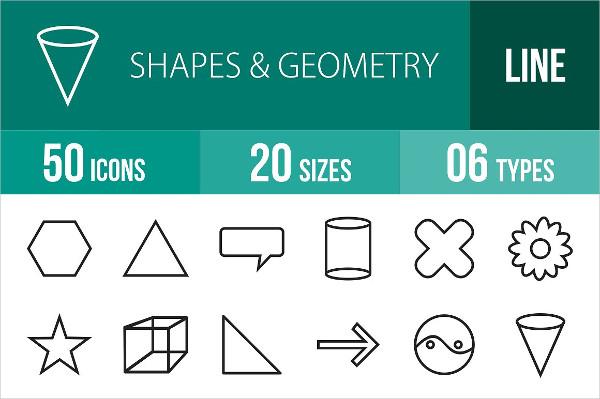 50 Geometry Line Icons