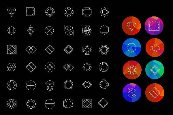 36 Hipster Geometric Icons