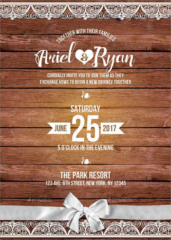10 Rustic Invitation Templates Word Psd Ai Eps