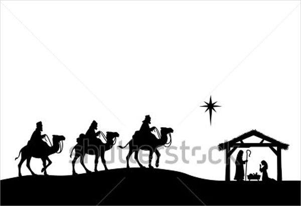 photo relating to Free Printable Silhouette of Nativity Scene titled 9+ Nativity Silhouettes - Cost-free PSD, AI, Vector, EPS Structure