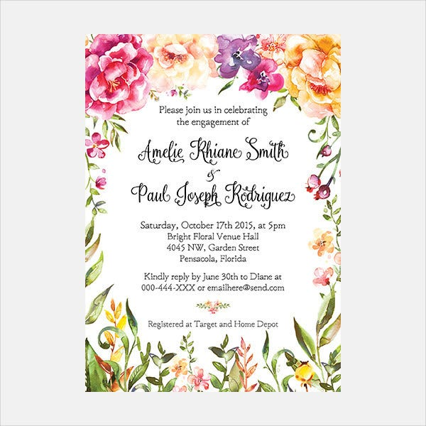 Rustic Party Invitation Template