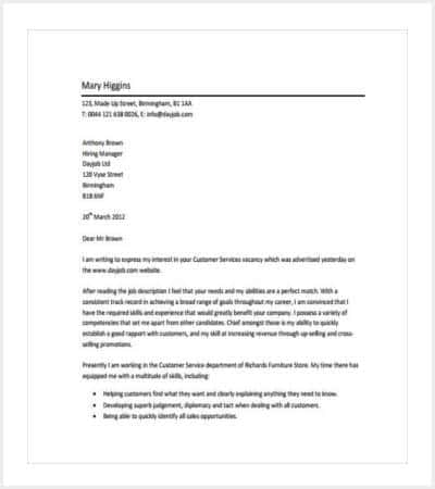 customer service professional cover letter pdf min