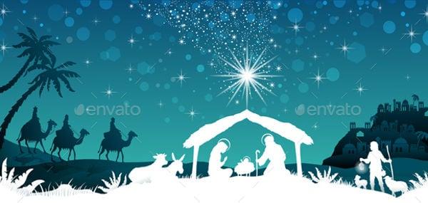 nativity-silhouette-vector