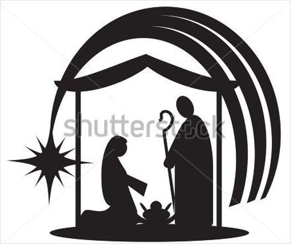 graphic relating to Free Printable Silhouette of Nativity Scene identified as 9+ Nativity Silhouettes - Totally free PSD, AI, Vector, EPS Layout