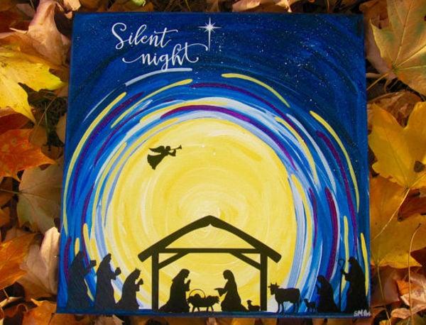 nativity-silhouette-painting