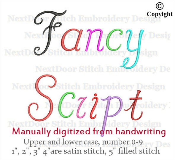fancy handwriting font