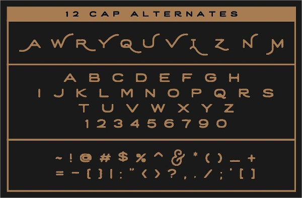 retro handwriting font