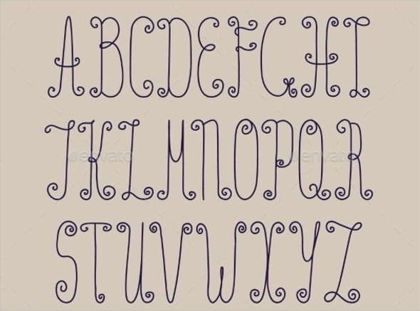 vintage handwriting font