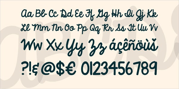handwriting bubbly font