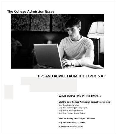 sample college admission essay