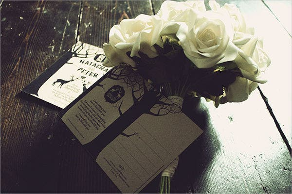 Rustic Wedding Invitation Postcard