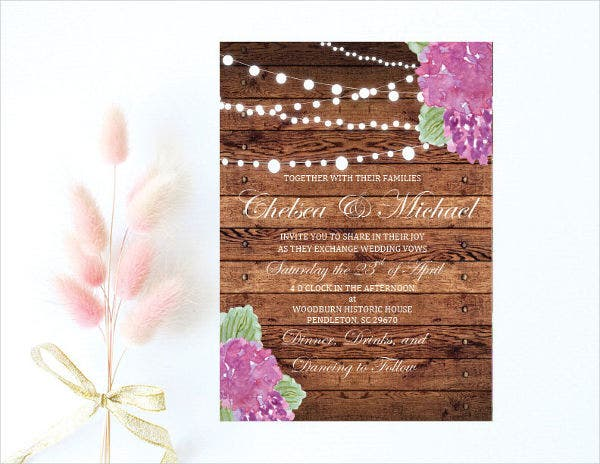 Printable Rustic Invitation Template