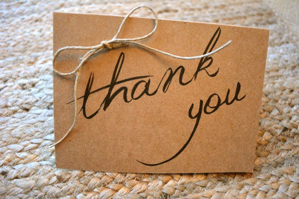 Simple Rustic Thank You Card