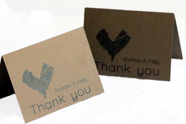Rustic Engagement Thank You Card