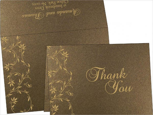 Free Rustic Thank You Card