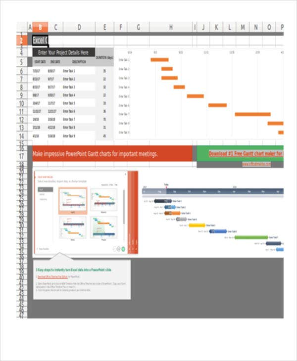 monthly gantt chart excel template