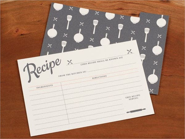 vintage recipe card template1