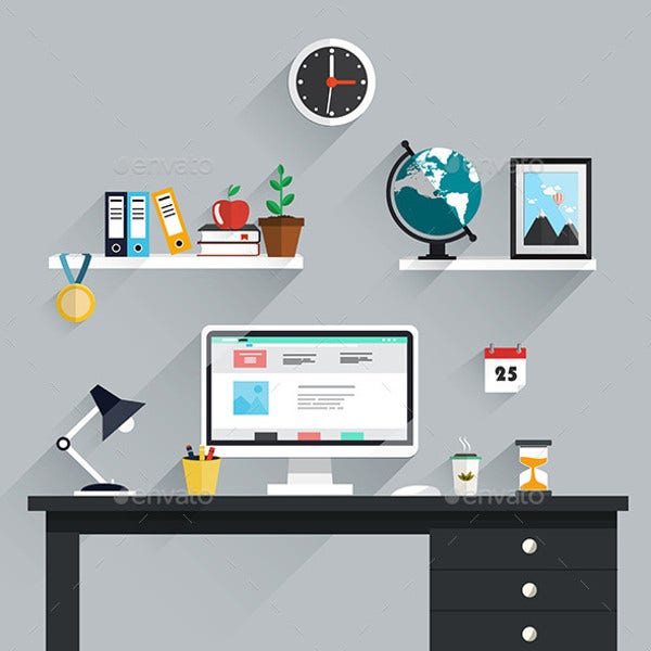 flat workspace icons