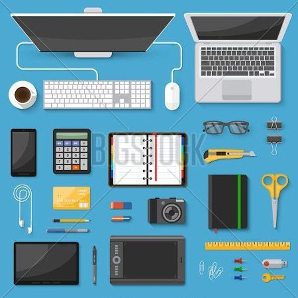 decorative workspace icons