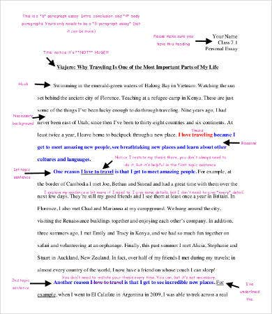Personal Essay Template   Free Word Pdf Documents Download