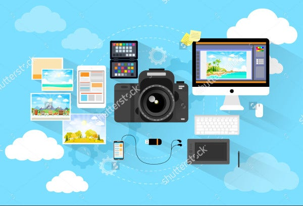 Photographer Workspace Icons