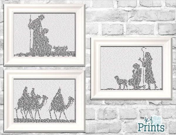 free printable nativity silhouette2