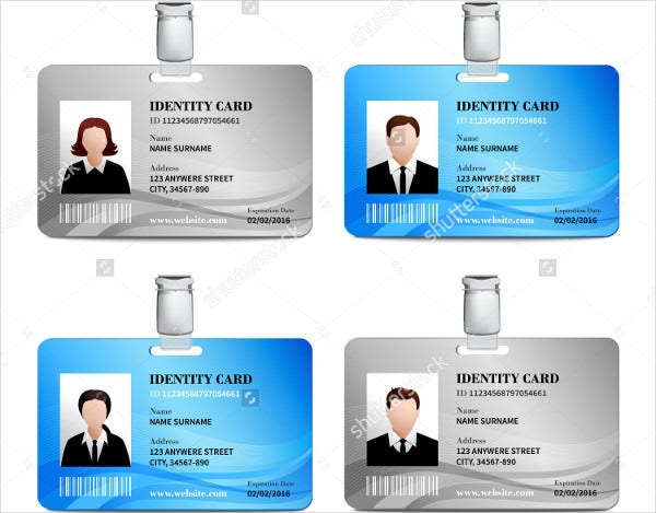 vector id card template