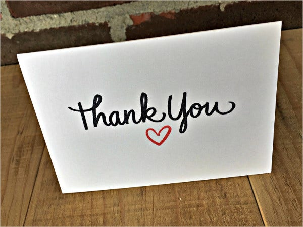 blank graduation thank you card