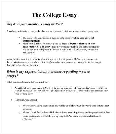 College Essay – 9+ Free Samples, Examples, Format Download | Free
