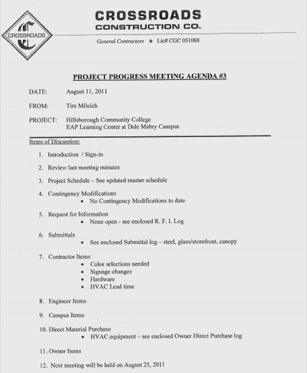Planning Meeting Agenda Template  PetitComingoutpolyCo