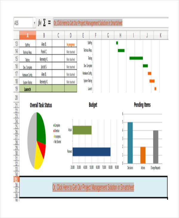 8 excel project management templates free premium templates