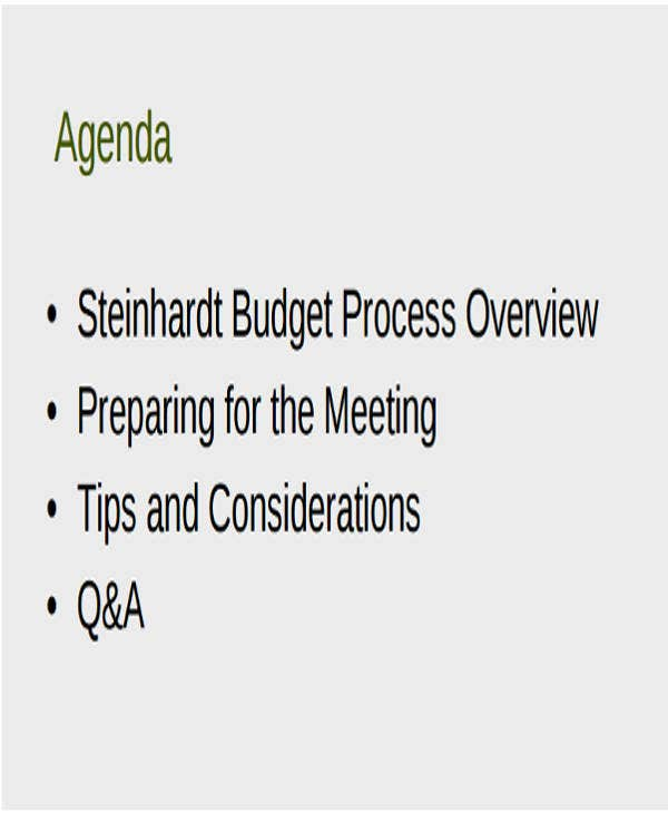 budget planning meeting agenda template