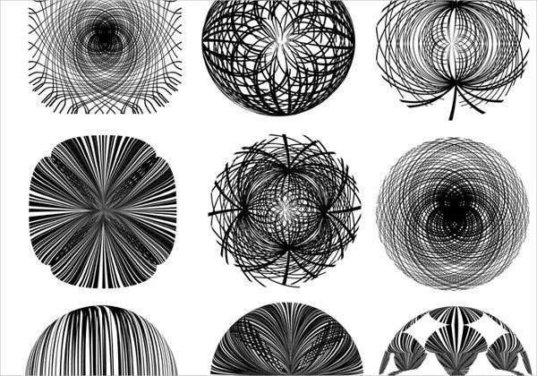 abstract line brushes