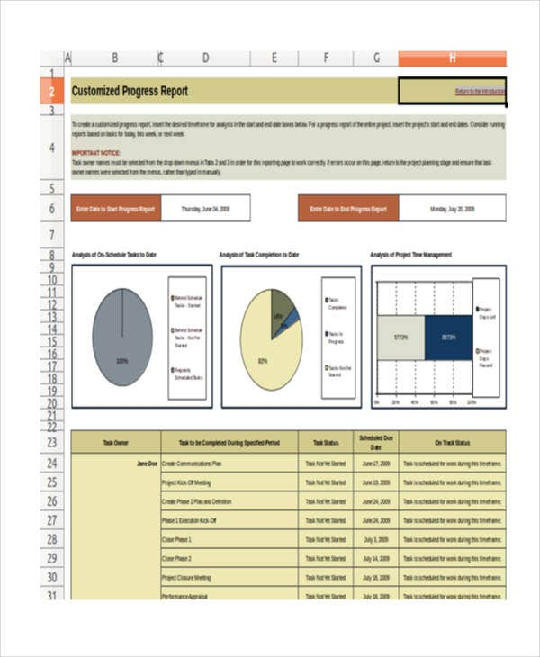 excel multi project management template1