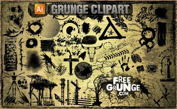 vector grunge cliparts