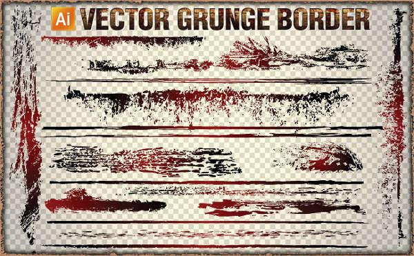Grunge Vector Border