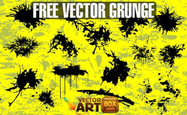 colorful grunge vector